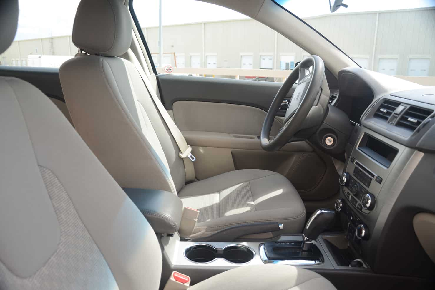 All our Fusions have cloth interiors. | BBB Rent a Car Los Cabos